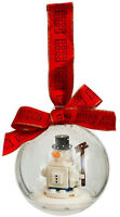 LEGO Holiday Ornament SNOWMAN Christmas Bauble with ribbon 853670 6194790 26 pcs