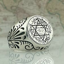 HandMade Solid 925 Sterling Silver Turkish Authentic Men's Ring AAA Quality