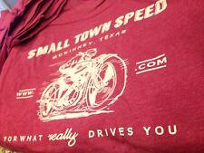 MEDIUM Cardinal RED heathered SMALL TOWN SPEED shop shirt M Med SUPER SOFT
