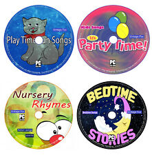 4 x Audio CD Children Nursery Rhymes Songs Playtime Party Time Bedtime Stories +