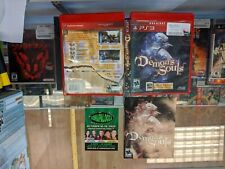 Demon's Souls PS3 NO DISC CASE AND MANUAL DAMAGED FREE SHIP