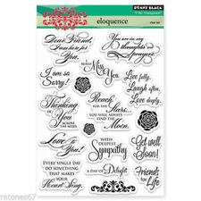 New Penny Black ELOQUENCE Clear Stamps Verse Friends Get Well Love Sympathy