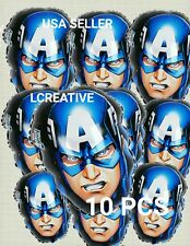 10 PC CAPTAIN AMERICA BALLOON BIRTHDAY PARTY SHAPE DECORATIONS CENTER PIECES 18""