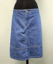 Cj Banks Skirt Denim Stretch A-Line Cotton Blend Plus Size Wmn's Sz 20W