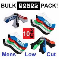 10 PAIRS *CHEAP* Mens Bonds Low Cut Sports Ankle Gym Assorted Socks 6-10 11-14