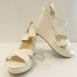 Womens White Stiletto wedge heel shoe size 7 Naughty Monkey