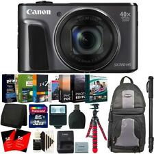 "Canon PowerShot SX720 Black HS Digital Camera + 62"" Monopod and Accessory Kit"