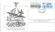 FALKLAND ISLANDS ; HISTORY OF AVIATION, SCOTT No. 276-277 (2) FDC ON ONE COVERS