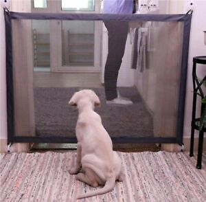 Pet Dog Baby Safety Gate Mesh Fence Portable Guard Indoor Home Kitchen net Guard