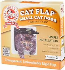 "Ideal Pet Products Small Cat Flap Door with 4 Way Lock, 6.25"" x 6.25"" Flap Size"