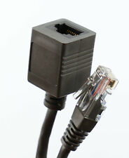 2m  RJ45 Network Extension Cable Ethernet Patch Lead Cat 5 5e Male Female