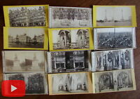 Belgium Anvers Bruxelles c.1860's stereoviews x 12 Antwerp Brussels Braun rare