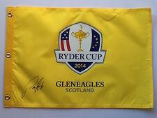 Padraig Harrington Hand Signed Gleneagles 2014 Ryder Cup Pin Flag 1.