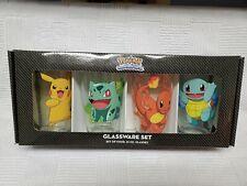 Pokemon Gotta Catch em All Glassware 16 oz Set of Four Glasses Beer Drinks Gift