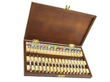 Screwdriver Set In Wooden Presentation Box For Watchmakers And Jewellers