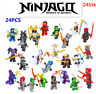 24 Stk Ninjago Mini Figuren Kai Jay Sensei Wu Master Bausteine Spielzeug SetY9