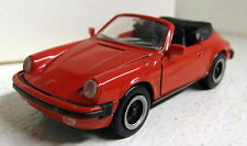 NZG 1/43 Scale Porsche 911 930 Cabriolet Red Vintage diecast model car