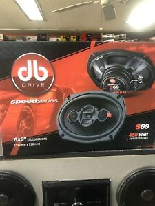 "NEW Pair of DB DRIVE 6X9"" 4-WAY 450 WATT MAX SPEAKERS MODEL S69 Free Shipping"