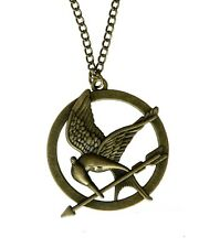 Antique Bronze Hunger Games Mockingjay Oiseau katniss Cadeau Collier Pendentif UK