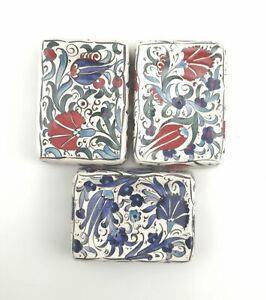 Handmade Ceramic Soap Dish - Hand Painted Turkish Pottery