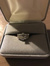 Diamond bridal wedding ring set-lots of sparkle-LQQK!