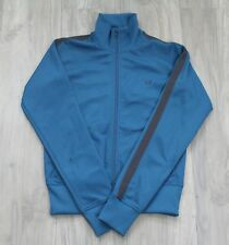 Womens Fred Perry Track Top Sports Jacket Blue Retro Summer Vintage - Size UK 10