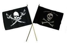 "12x18 12""x18"" Wholesale Combo Pirate Brethren Coast & Commitment Stick Flag"
