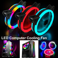 1-6 Pack RGB LED Quiet Computer Case PC Cooling Fan Light for Computer Cooler