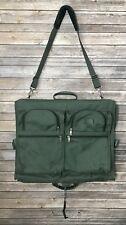 TUMI Folding Suit Garment Bag Ballistic Carry-On Suitcase Green Travel $575