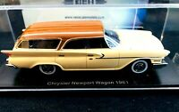 1961 Chrysler Newport Wagon Beige and Brown Resin Model in 1:43 Scale by Neo