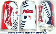 2012 CLEVELAND INDIANS BASEBALL BUDWEISER BEER CAN BALL MLB BUD OHIO PRO SPORTS