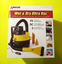 "Wagan Tech 750 Wet/Dry Ultra Vacuum 1Gallon/9ft Cord/40"" Hose Yellow/Black 12V"
