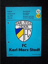 Orig.PRG   DDR Oberliga 1974/75   FC CARL ZEISS JENA - FC KARL MARX STADT  !!