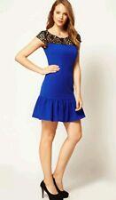 BNWT * COAST * MUSE DRESS, 6 (UK), BLUE BLACK LACE,COCKTAIL DRESS, EVENING, £125