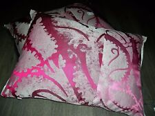 1 large Designers Guild gothic pink silk Cushion + feather pad BNWT 60 X 45 cm