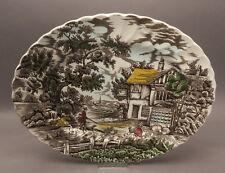 Myott Staffordshire Servierplatte Platte Fleichplatte THE HUNTER bunt Jagd