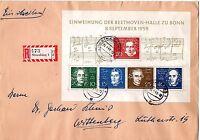 BRD - Einschreiben - Betthovenblock   1959 - Gestempelt - Block 2