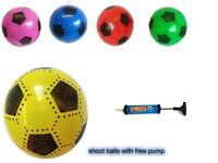 12x PLASTIC PVC FOOTBALLS,flat packed uninflated Wd Free Football Pump Job lot