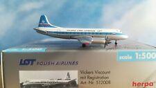Herpa Wings 1:500 LOT Polish Vickers Viscount SP-LVC  plus herpa wings katalog