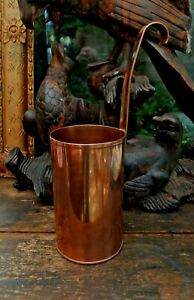 Antique Copper Milk  measuring Ladle From Devon Farmhouse Kitchen Inglenook