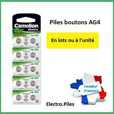 Piles boutons AG 4 /LR66 /LR626/377 Camelion -  Qualité Professionnelle