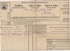 1895 SWITZERLAND FRACHTBRIEF-LETTRE VOITURE from CENTRAL RAILWAY+SAFENWYL-h982