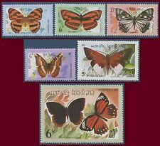 LAOS N°406/411** Papillons TB, 1982 butterflies MNH