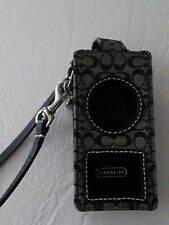 Used Once COACH ipod Nano Holder black