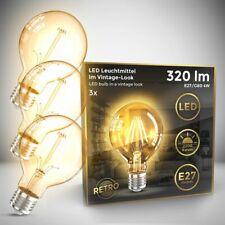 3x LED Leuchtmittel Filament Vintage Industrie Lampe E27 Retro Glühbirne G80 4W