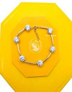 100% Authentic SWAROVSKI Gold White Crystals Constella Bangle Bracelet 5600487