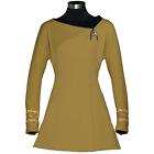 Anovos STAR TREK TOS Women's Season 3 Premier Dress Gold COMMAND S OOP NIP c425
