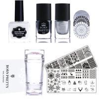 6pcs/set Nail Art Stamping Tools Set Printing Polish Kits Manicure Born Pretty