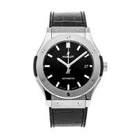 Hublot Classic Fusion Auto 45mm Titanium Mens Strap Watch Date 511.NX.1171.LR
