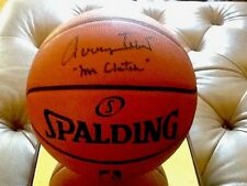 Jerry West SIGNED Official NBA Basketball Lakers Mr Clutch Inscription PSA COA